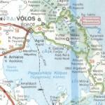 Pelion map